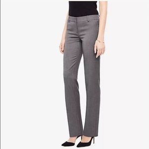 Ann Taylor Modern Straight Leg dark gray pants